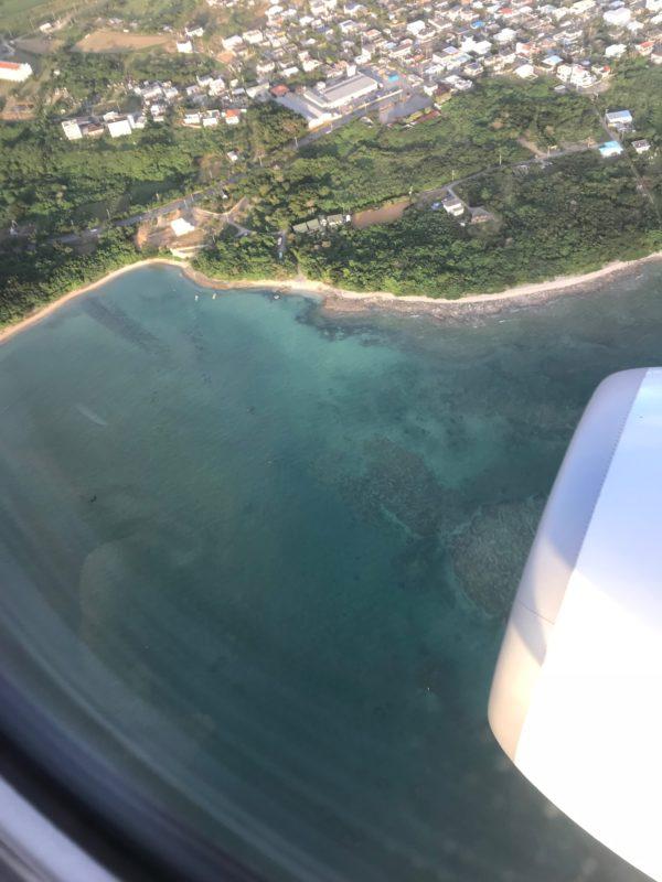 飛行機から見た夕方の石垣島3